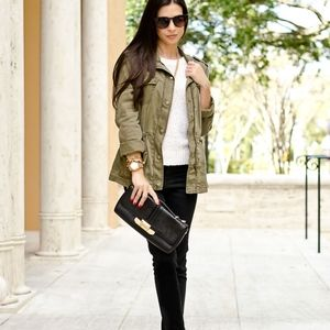 Max Jeans Olive Green Utility Jacket for Fall S
